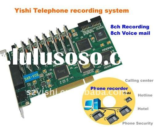 telephone recording system: 8ch phone recording + 8ch Voice mail