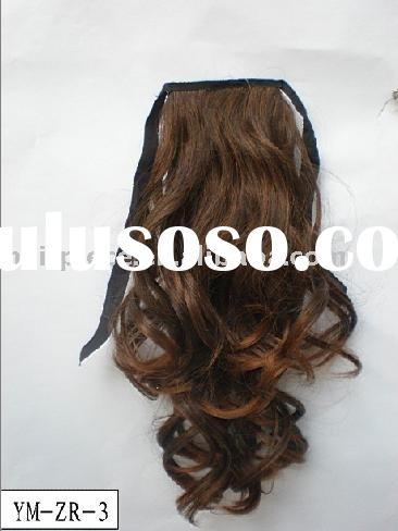 wig,heat resistant hair pieces,clip on ponytail.wrap around pony