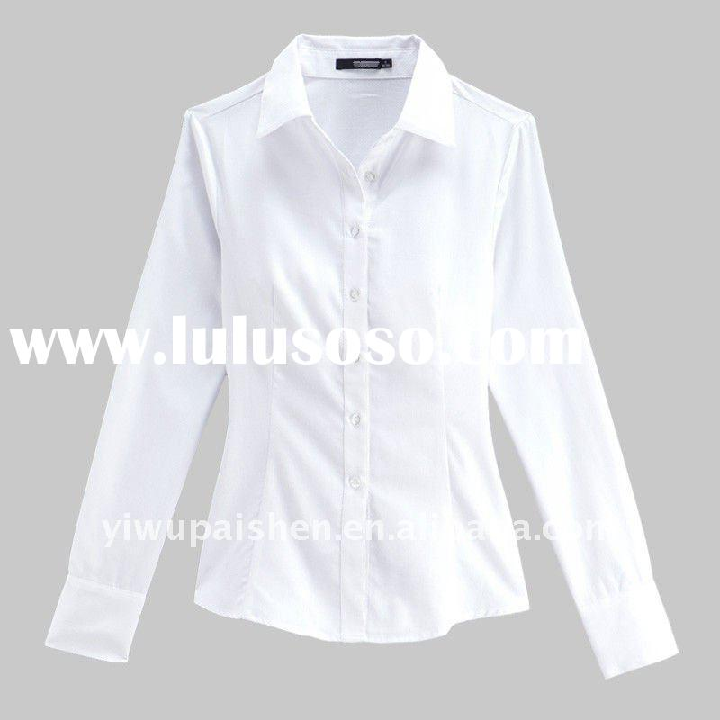 Ladies White Cotton Blouses | Fashion Ql