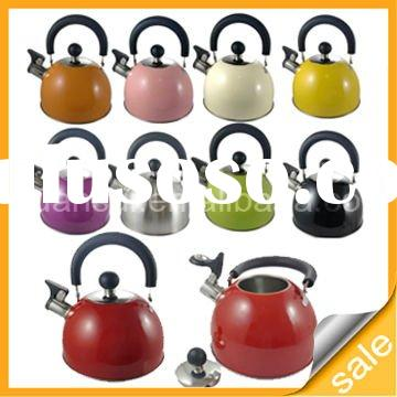 1.5L stainless steel whistling kettle with color painting