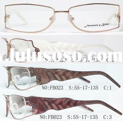 2009 design and fashion high quality ladies metal optical frame