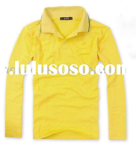 2010 new style men's long sleeve polo shirt