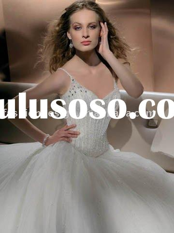 2010 pageant tulle fully crystals beaded wedding dresses,custom made bridal wedding gowns YS423
