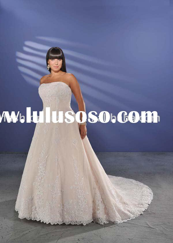 2010 rose lace plus size wedding dresses,big over size bridal wedding gowns P008