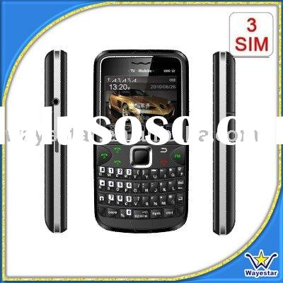 2011 3 sim card 3 standby GSM mobile phone with TV