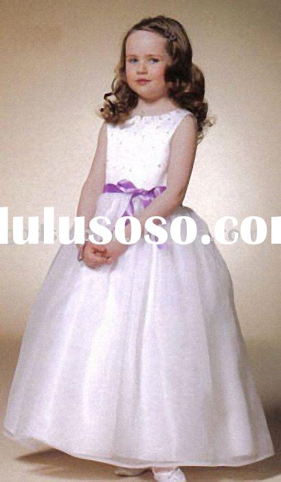 2011 Beautiful Flower Girl Wedding Prom Dress Gowns For Children 0010
