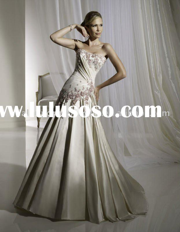 2011 Chic glorious royal ivory cathedral train wedding dress/bridal gownZAP005