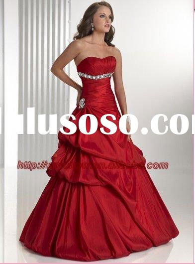 2011 New Design Red Wedding Dresses And Evening Dresses