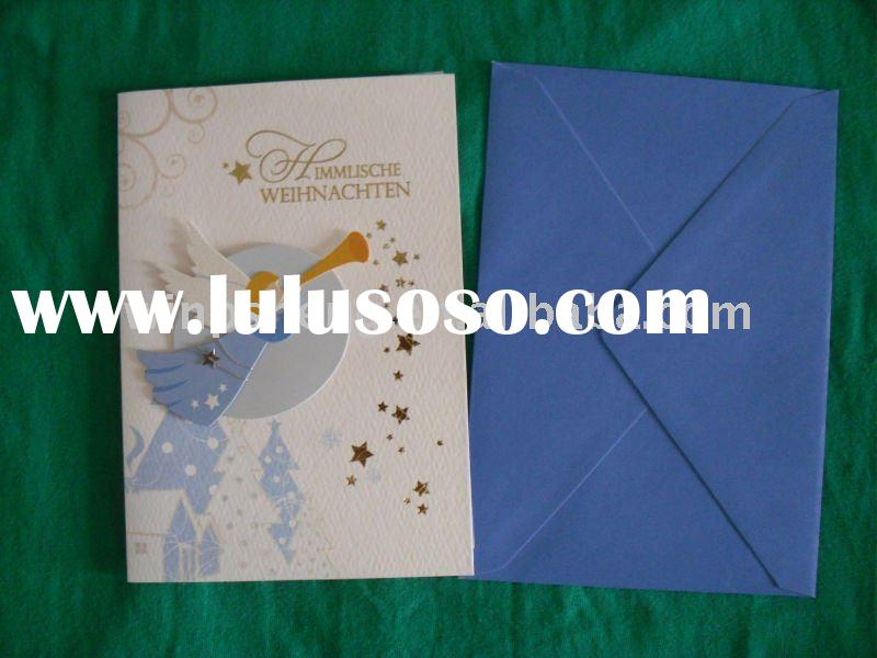 2011 New design of angle paper greeting card