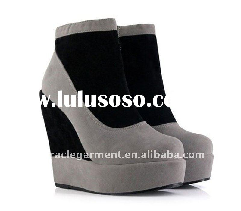 Booties With Wedge Heel