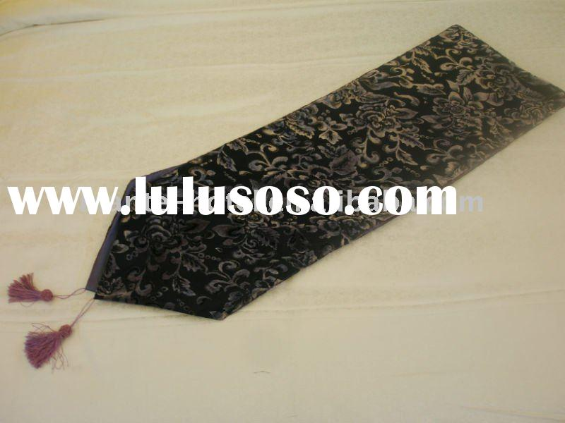 2011 elegant design, hotel bed runner,peony runner(purple color)