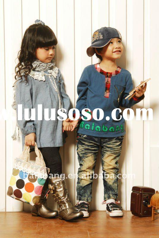 2011 fashion korean branded kids wear-children wear