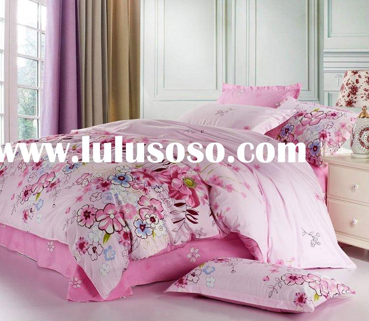 2011 hot sale .Lowest Price, Top quality! cute 100% cotton printed bed spread bedding set home texti