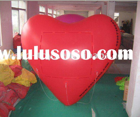 2011 inflatable heart balloon,advertising balloon