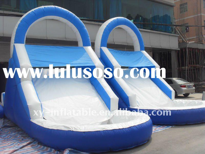 2011 new commercial grade giant water inflatable slide