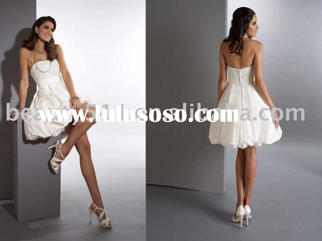 Short White Bridal Wedding Dresses