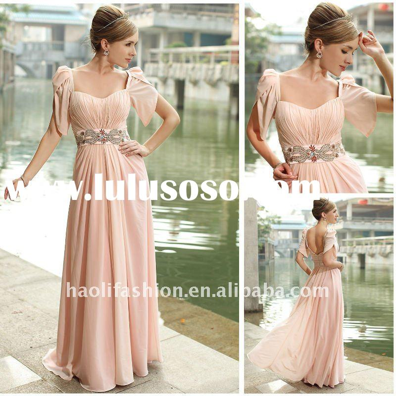 2012 DORISQUEEN Beaded Waist Evening Gown Dress For Women 30291