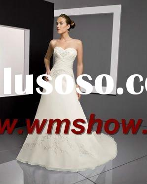 2012 Latest Design Lace Trumpet Sweetheart Wedding Gown
