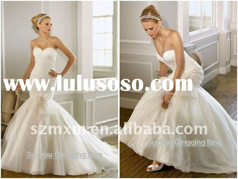 2012 ML-45 new style high quality fashionable mermaid customised size wedding gown