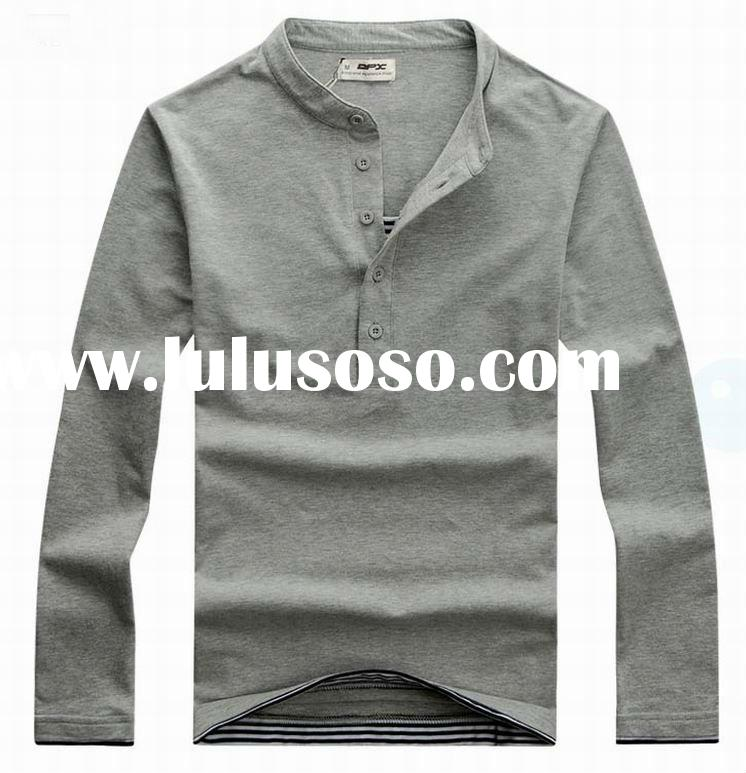 2012 fashion classic cotton blank long sleeve t-shirt in humen