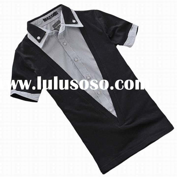 2012 fashion design men's cotton polo t-shirts in Guangzhou