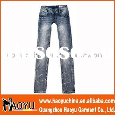 2012 hot sell fashion women jeans in guangzhou (HY5056)