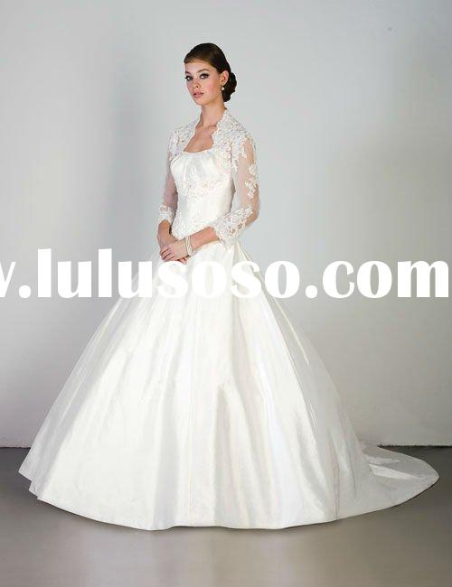 2012 latest design long sleeve lace wedding dress SFWD048UO