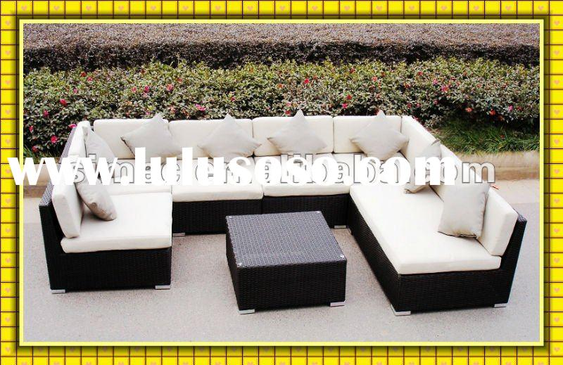 2012 modern outdoor furniture garden rattan sofa wicker patio sofa bed SCSF-126
