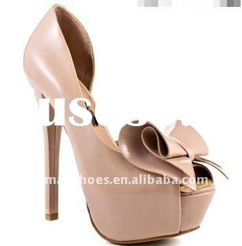 2012 newest classy glamour ladies high heel shoes