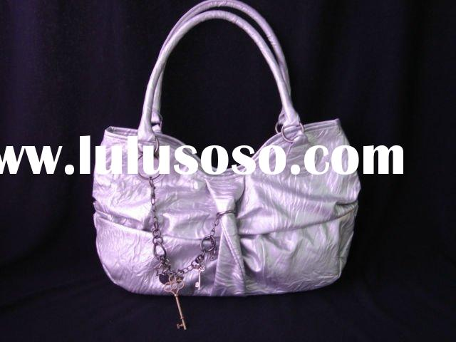 2012 seasons trendy handbag, cheap shoulder bags with metal accessories, artificial leather bag