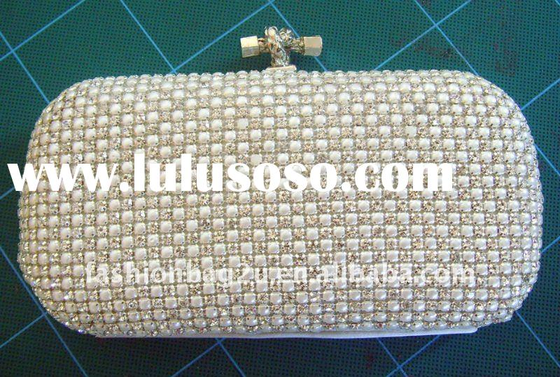2012 style skull head studs hard case clutch bag professional factory with low price coffee evening
