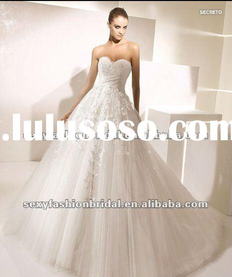 2012 sweetheart sash crossed bodice lace tulle overlay skirt a line amanda wedding dresses