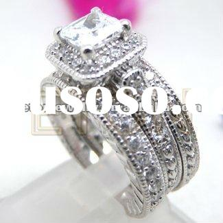 2012 wholesale ornate design fashion 925 sterling silver ring set jewelry (R5649)