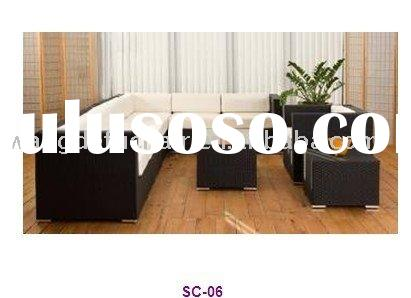 2012 wicker furniture sectional rattan sofa set WJK-SC-06