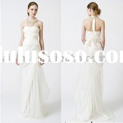 2016 Faye Strapless sweetheart Sheath Chapel Train Bridal Gown wedding dress