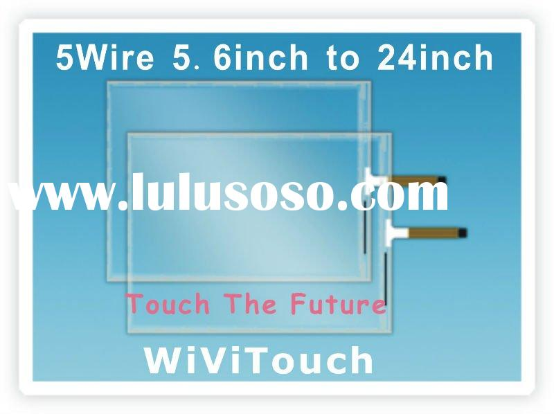 22''(16:9) 5 wire LCD Touch Screen Panel with USB/RS232 Controller