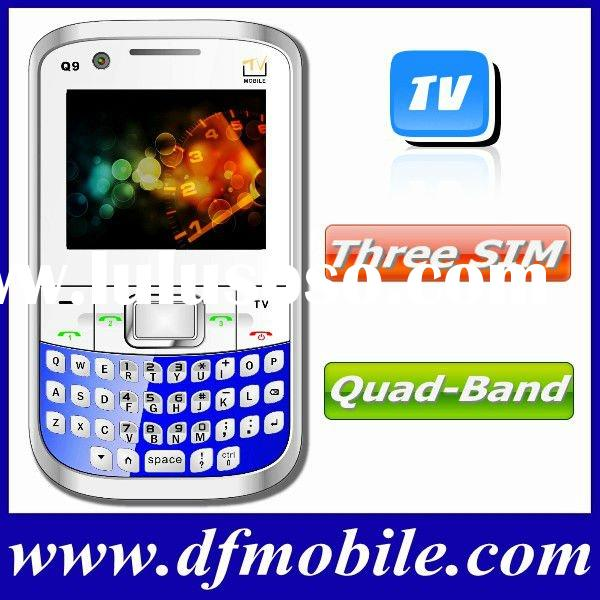 3 SIM Low Cost Quad-Band TV Cell Phone Q9