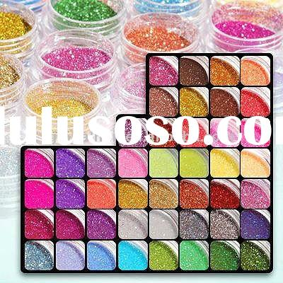 45 Color Glitter Acrylic Powder Dust For Nail Art Tips