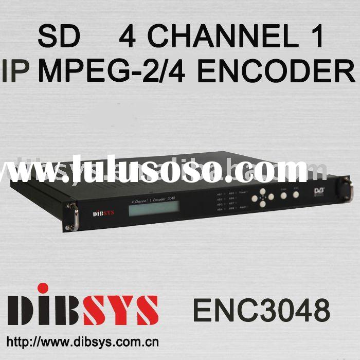 4IN1 DVB-C Cable TV super IP video Encoder(SD MPEG2&MPEG4)