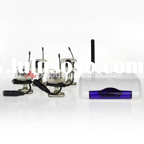 4 Channel CCTV Security Wireless Camera System Kit With Microphone