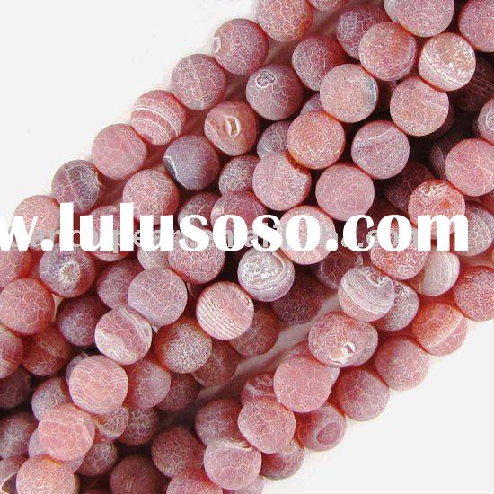 8mm pink frost dragon veins agate round beads 16''L/strand Natural Stone Beads Gemst