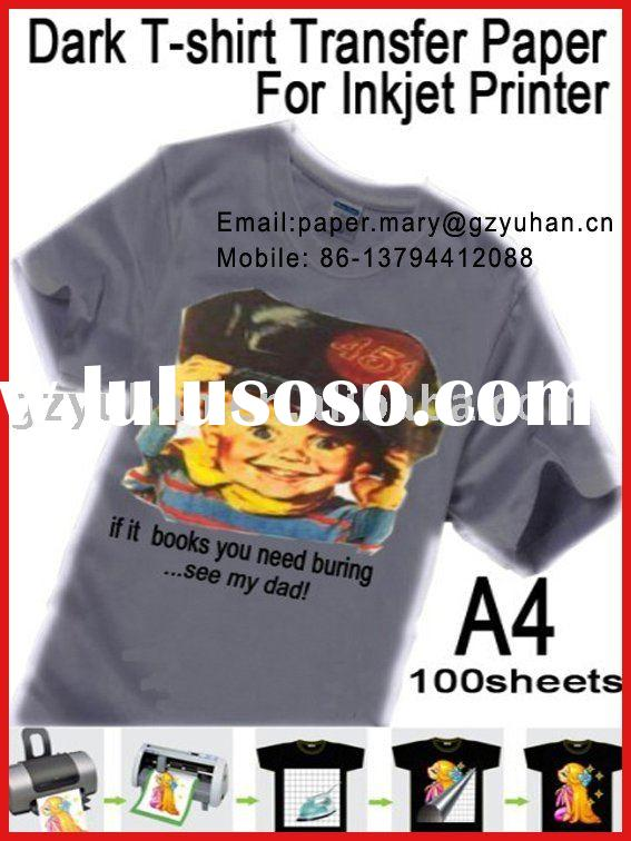 A4 inkjet printer dark transfer paper for T-shirt