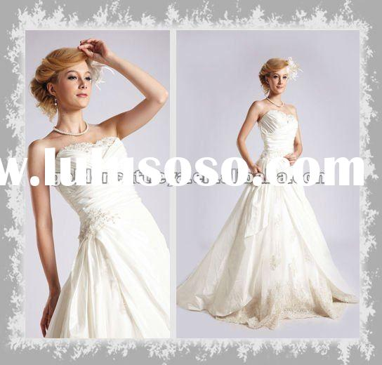 AQ017 marvelous strapless embroidery beaded party dress