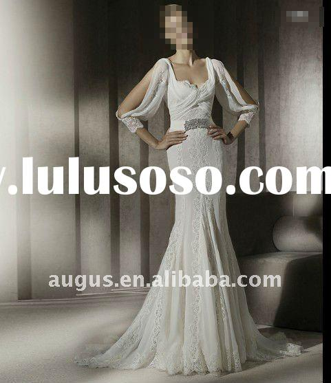AWB0108 2012 Gorgeous Graecism Long Sleeve Wedding gowns