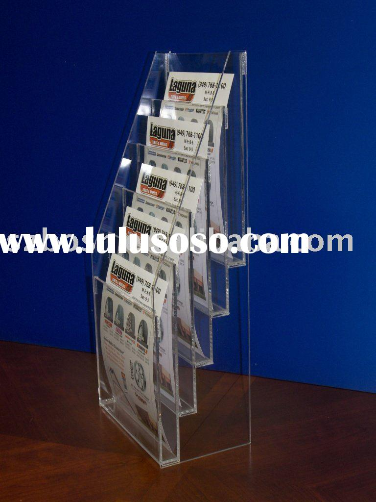 Acrylic Brochure Holder, Perspex Magazine Rack, Plexiglass Display Stand
