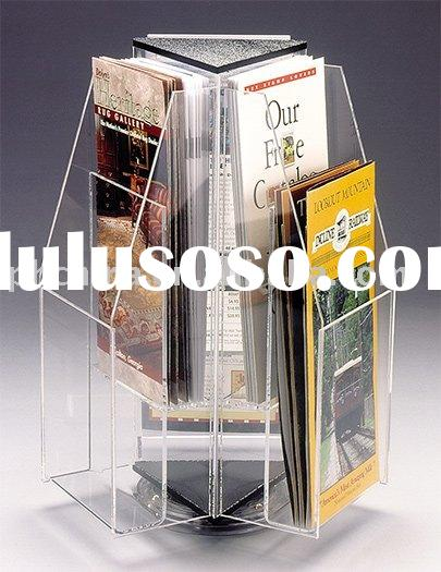 Acrylic Rotating Brochure Holder;Acrylic Brochure Display;Brochure Holder
