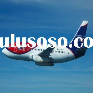 Air shipping line from Shanghai to Manila in Philippines