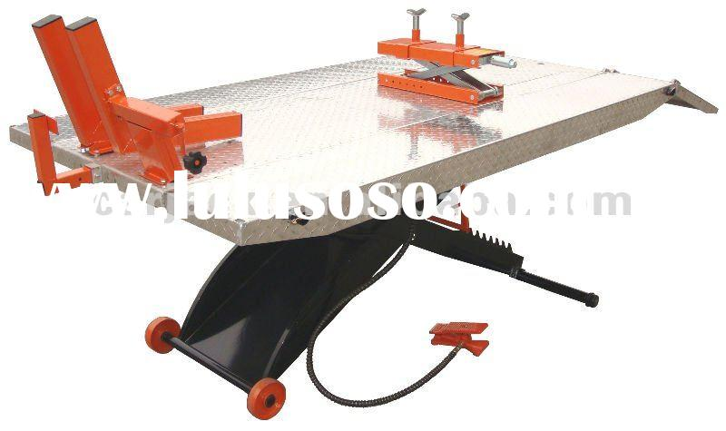 Aluminum Plate Air Hydraulic Motorcycle Lift 1500lbs