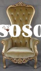 Antique Furniture Upholstered Royal King Throne Chair S050