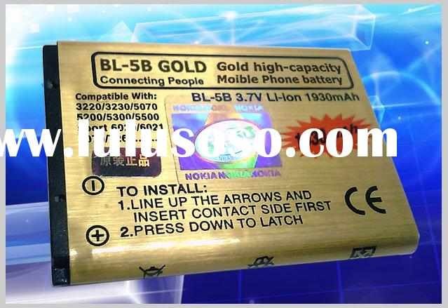BL-5B Gold li-ion battery 1930mAh for Mobile Phone High-capacity battery